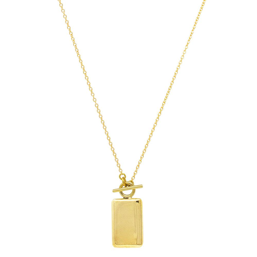 Rectangle Medallion Necklace - SHOWFIELDS