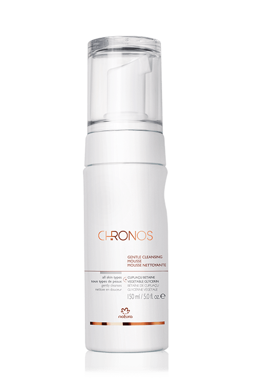 gentle cleansing mousse natura chronos