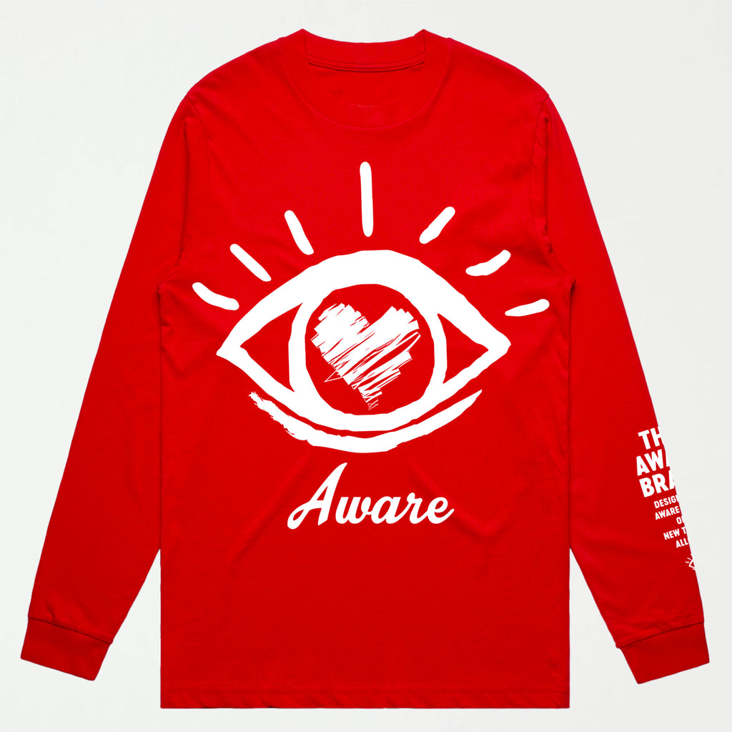 Awakening L/S Premium Tee-RED - SHOWFIELDS