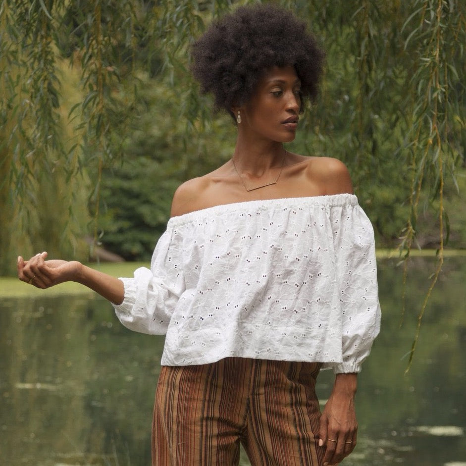 Botanical Boat Neck Top - SHOWFIELDS