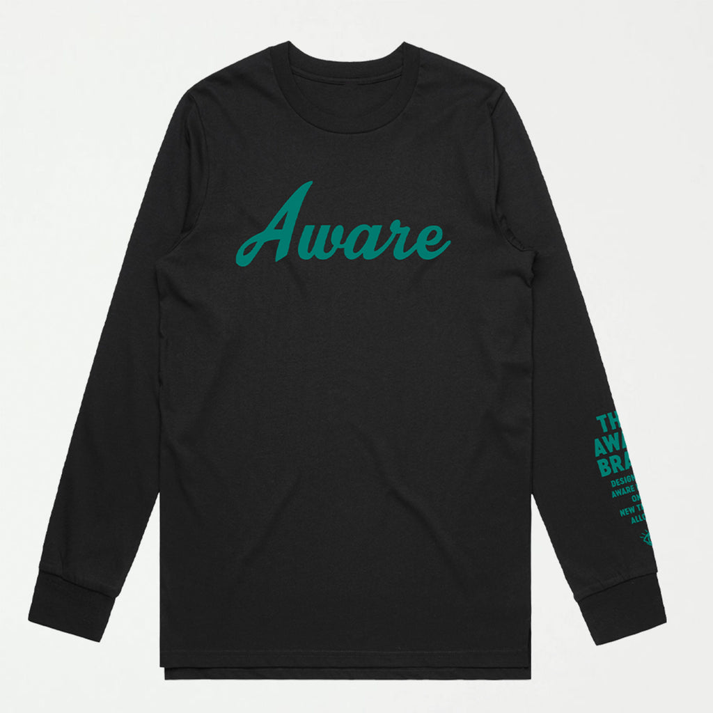 Awakening Tee L/S (Black/Green) - SHOWFIELDS