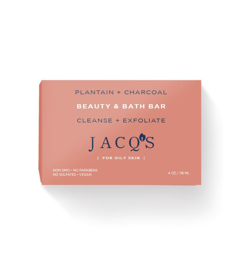 JACQ's Plantain & Activated Charcoal Face Cleansing Bar - SHOWFIELDS