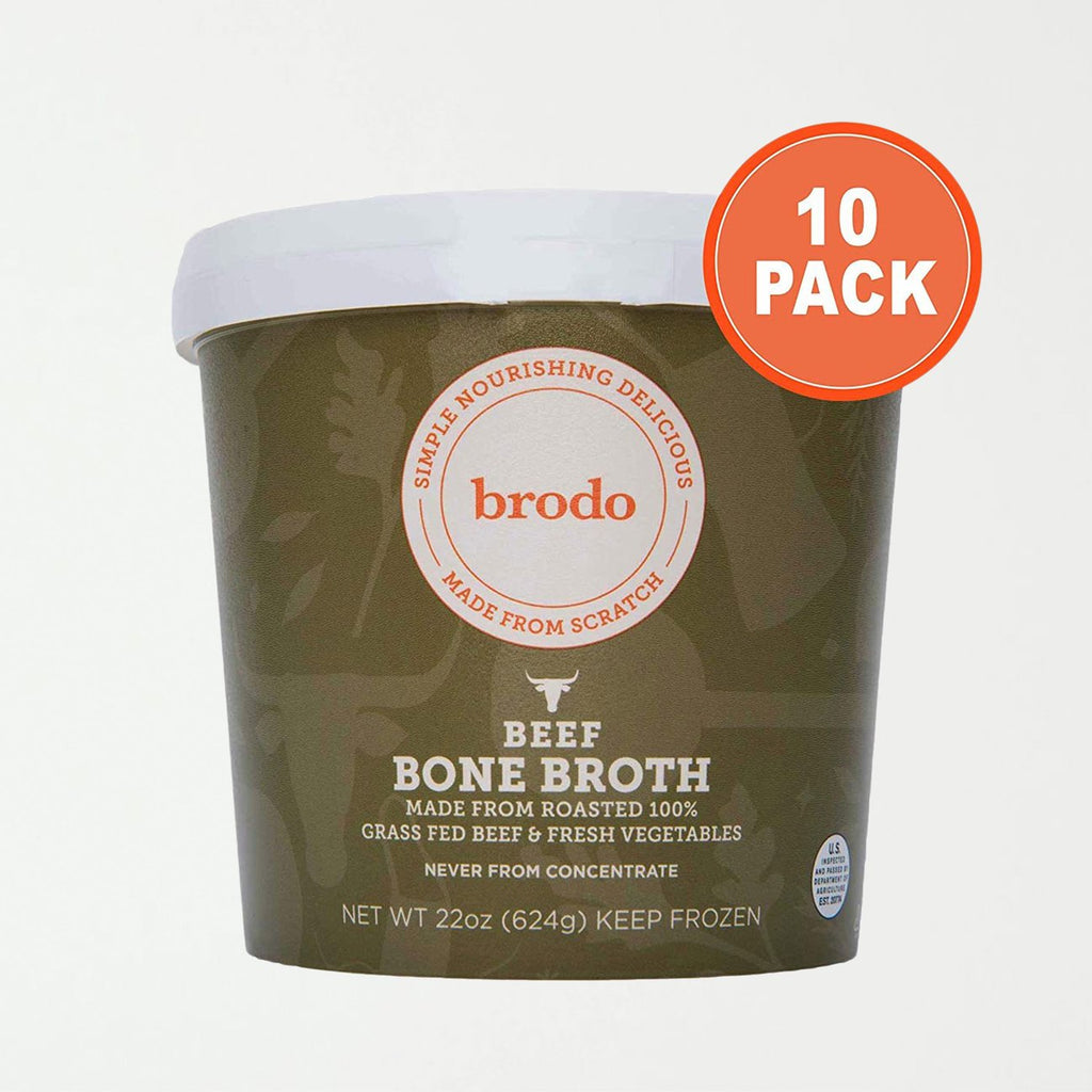 Brodo 100% Grass-Fed Beef Bone Broth, 10 Count - SHOWFIELDS