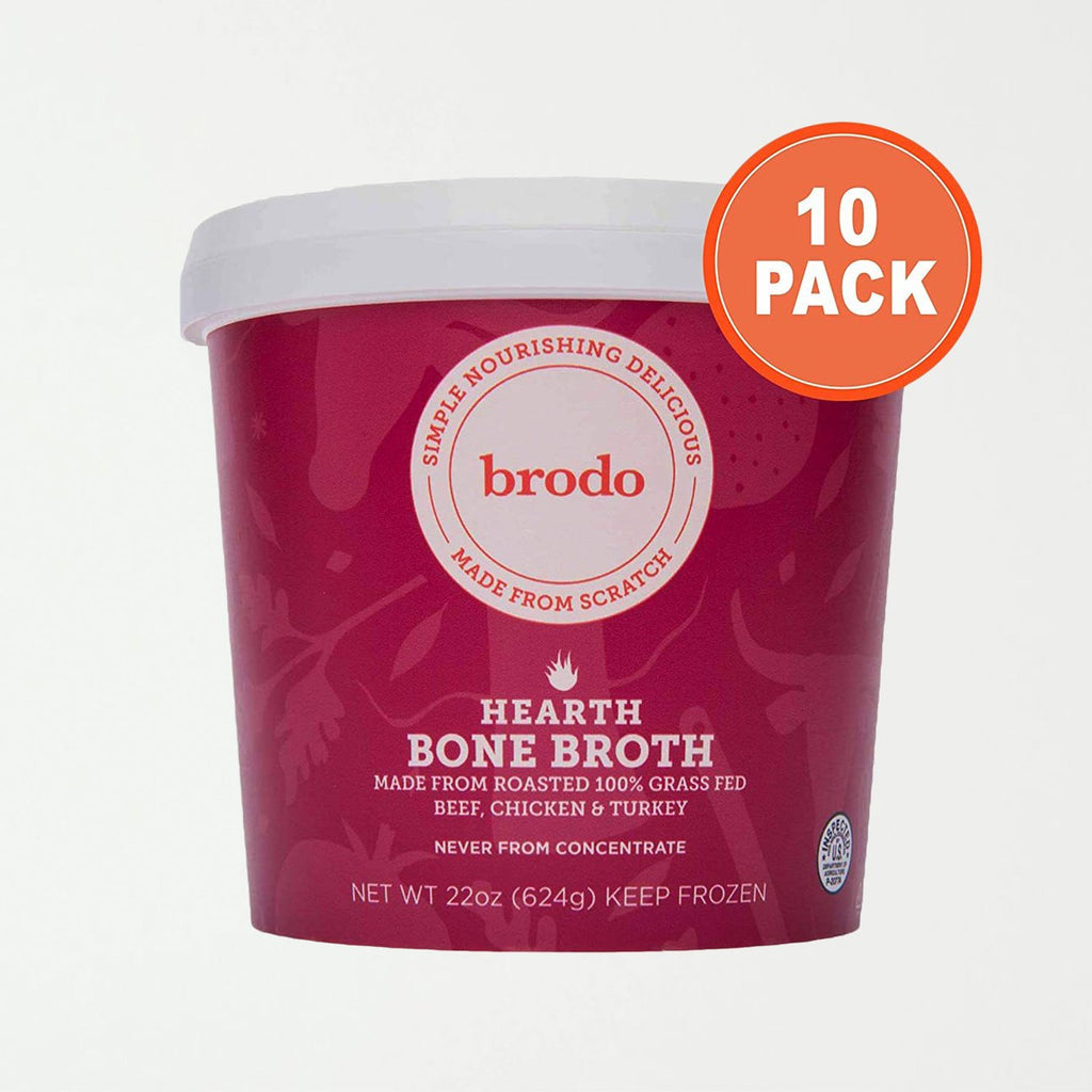 Brodo Hearth Bone Broth, 10 Count - SHOWFIELDS