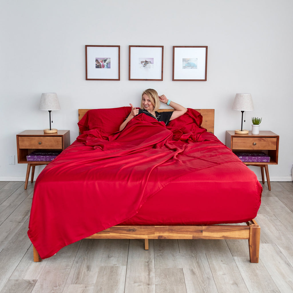 Eucalyptus Lyocell Sheet Sets - Red - SHOWFIELDS