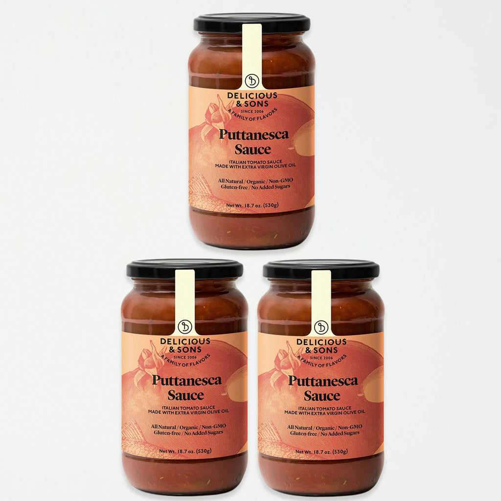 Delicious & Sons Organic Puttanesca Sauce 18.70 oz (Pack of 3) - SHOWFIELDS