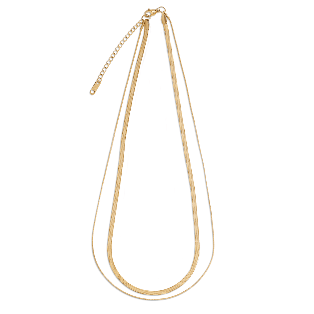 CASSIA DOUBLE CHAIN NECKLACE - SHOWFIELDS