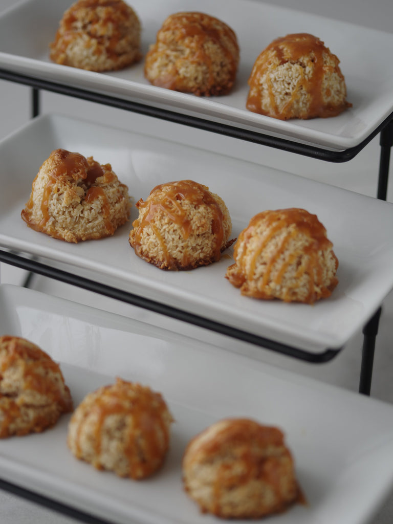 Salted Caramel Coconut Macaroon Bites - SHOWFIELDS