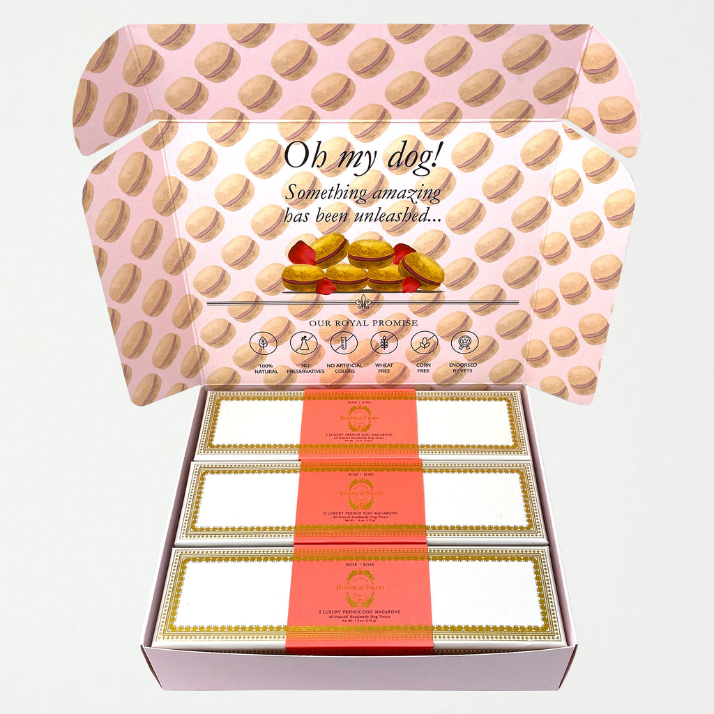 Combo Gift Pack of 3-Boxes Dog Macarons - SHOWFIELDS
