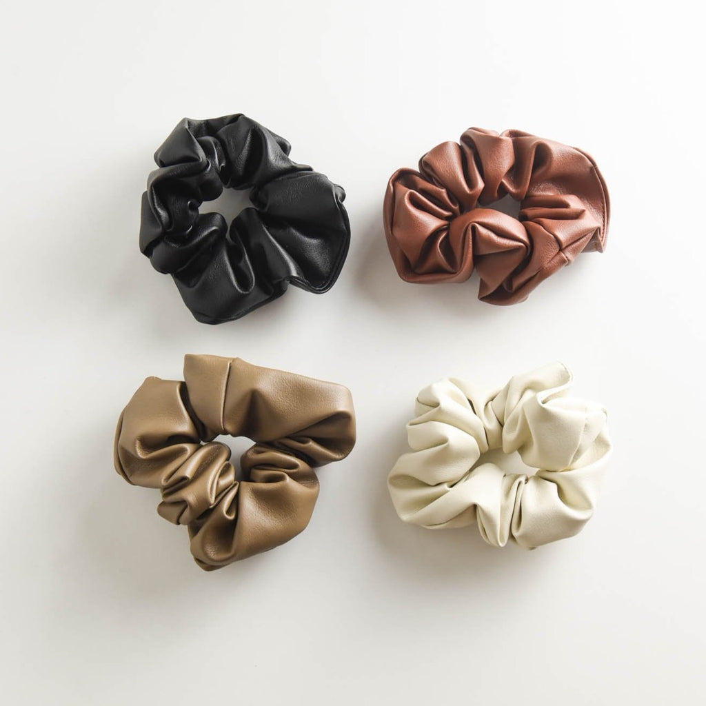Luxe Vegan Leather Scrunchie - SHOWFIELDS
