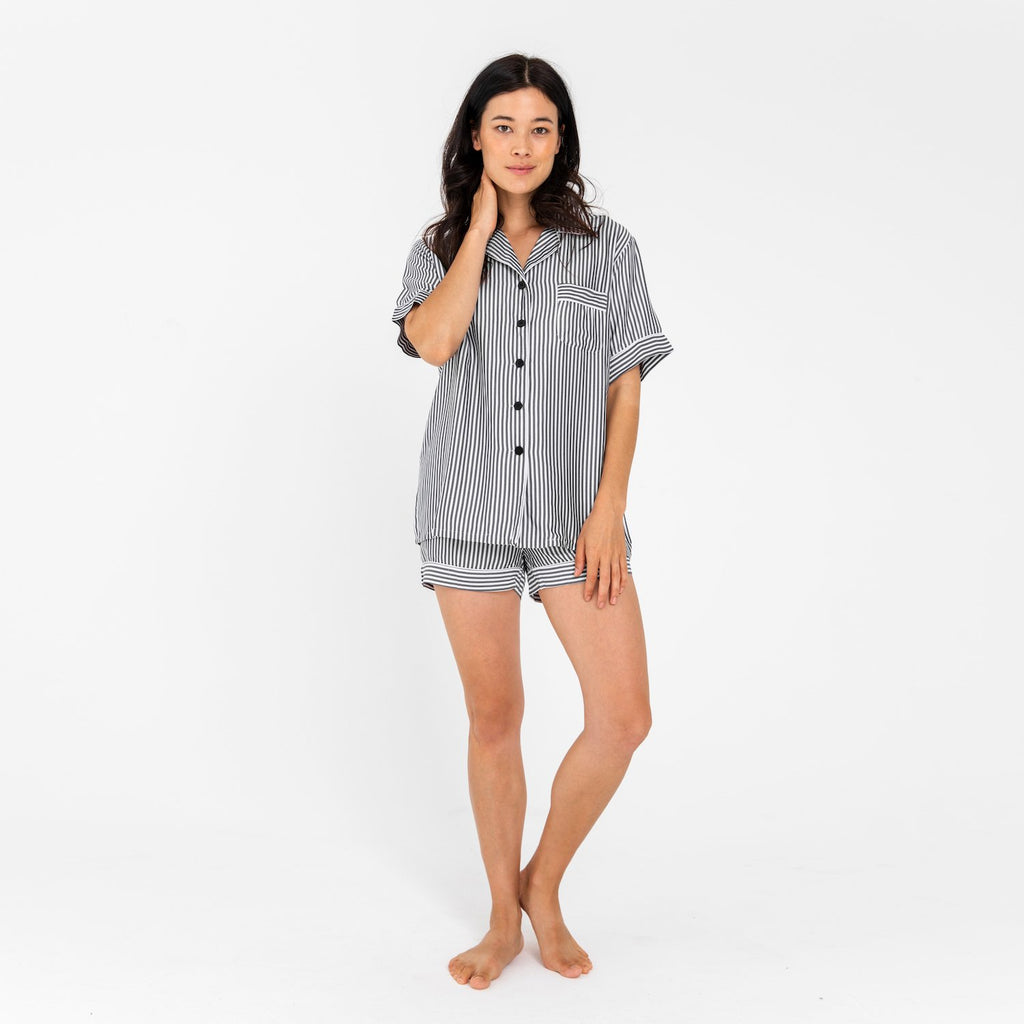 Bamboo Lyocell Short Sleeve PJ Shirt - SHOWFIELDS