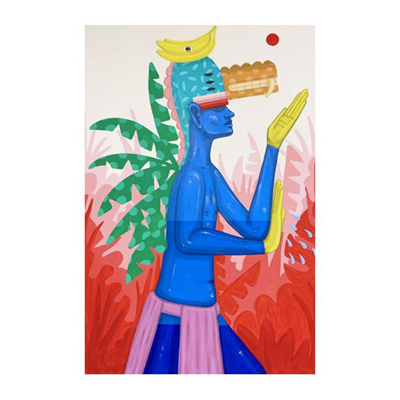 """Banana Tree Boy"", 2019 // 24"" x 36"" - SHOWFIELDS"