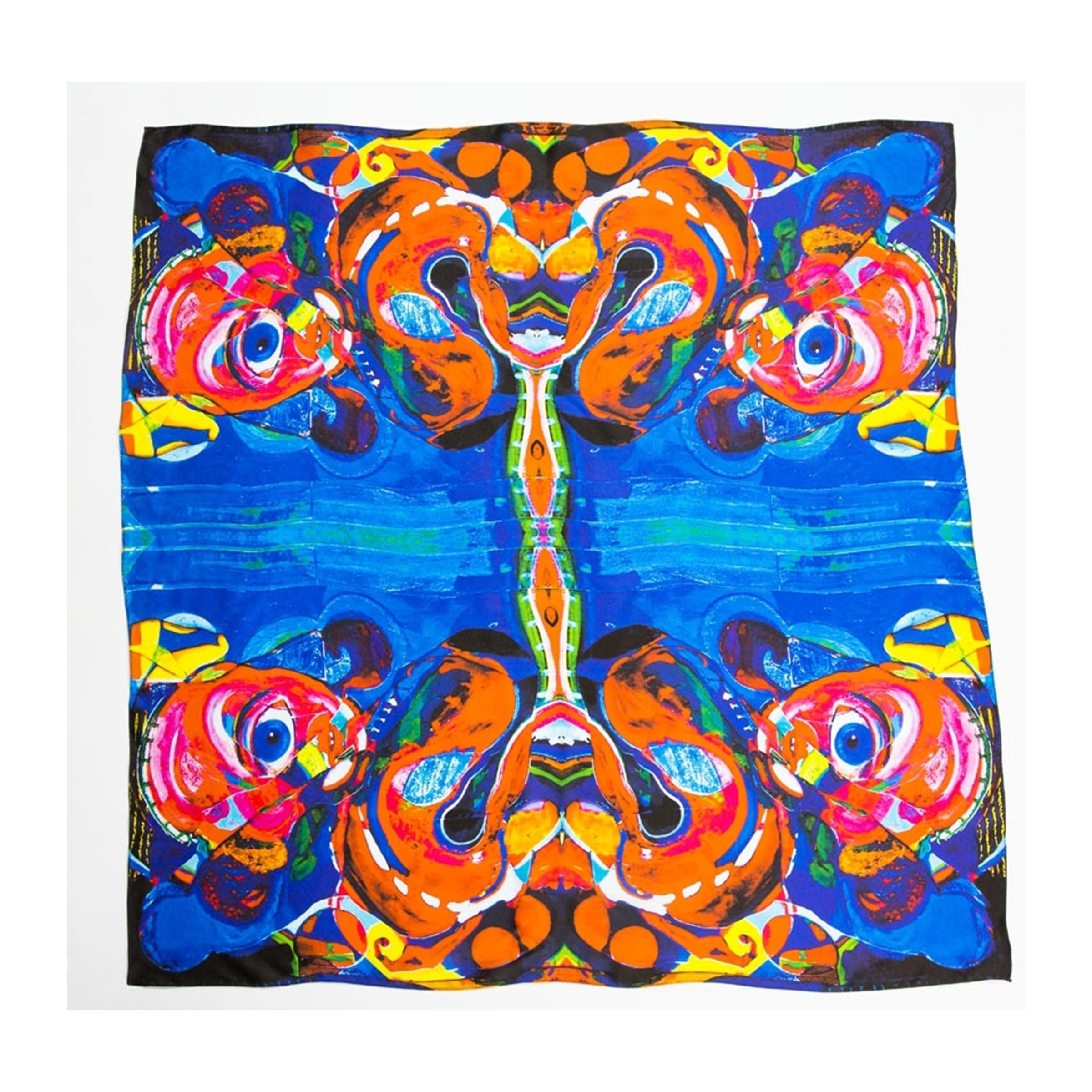 "Natalie Frank x Maria Brito ""Taking A Walk "" Silk Scarf - SHOWFIELDS"