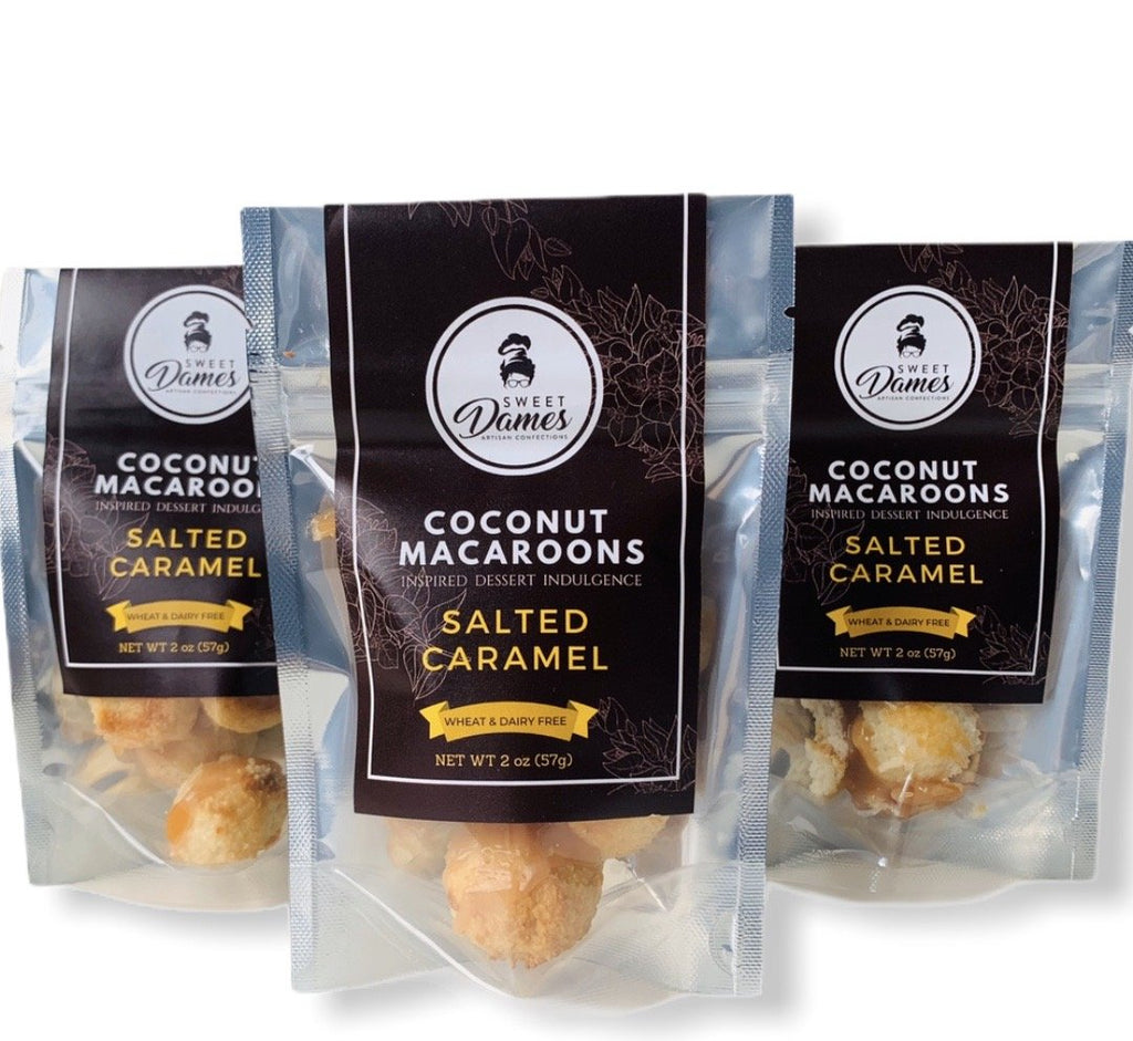 Bite Size Salted Caramel Coconut Macaroon Bundle - SHOWFIELDS