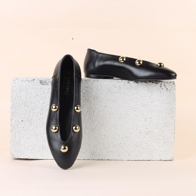 Scala Studded - Black Leather - SHOWFIELDS