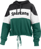 Pressbox Women's MSU Panel Crop Hoody