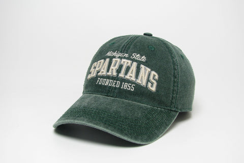 Legacy Green Dashboard Hat with White Michigan State Spartans Design