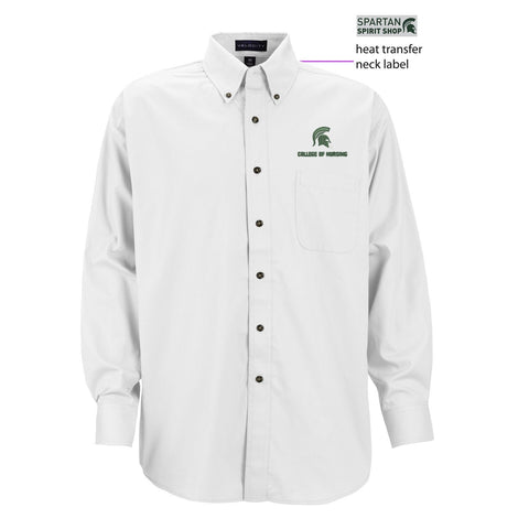 College of Nursing Men's Velocity Repel & Release Twill Button Down
