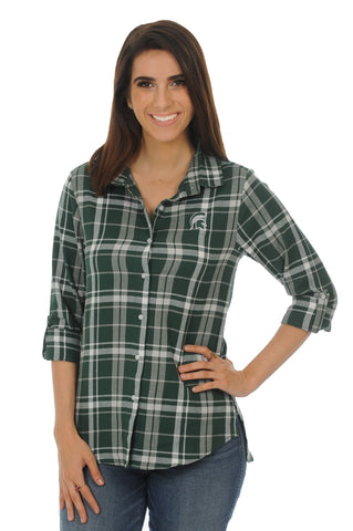 UG Apparel Women's Boyfriend Plaid Shirt