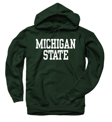 MSU Classic Green Hooded Sweatshirt