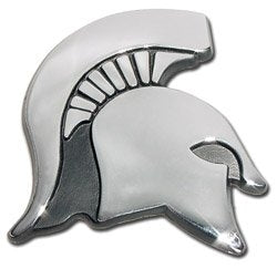 Elektroplate Michigan State Shiny Chrome Emblem (Spartan Head)