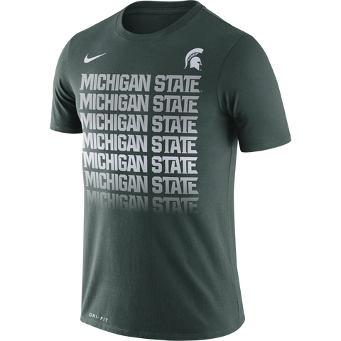 Nike Michigan State Fade Tee Green