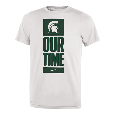 "Nike Youth Michigan State ""Our Time"" Dri-Fit Short Sleeve Tee"