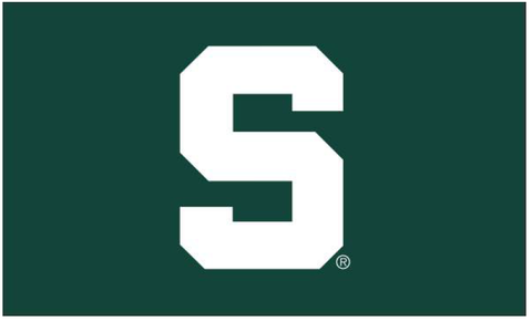 Sewing Concepts 2' X 3' MSU Block S Applique Flag