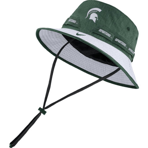 Nike Michigan State  Bucket Hat - Green and White