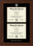Church Hill Classics Double Diploma Frame Engraved Medallion in Madison (Bachelor's/Master's)