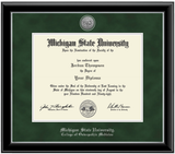 Church Hill Silver Engraved Medallion Diploma Frame in Onyx Silver (PhD/ Medical)