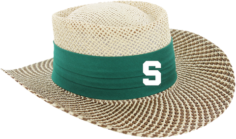 Ahead Michigan State Gambler Straw Hat with Block S