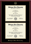 Church Hill Classics Double Diploma Frame Gold Embossed in Galleria (Bachelor's/Master's)
