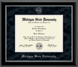 Church Hill Silver Embossed Diploma Frame in Onyx Silver (PhD/ Medical)