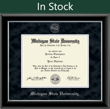 Church Hill Silver Embossed Diploma Frame in Onyx Silver with Black Suede Mat (Bachelor's/ Master's)