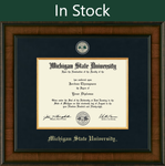 Church Hill Presidential Masterpiece Diploma Frame in Madison with Black Linen Mat (Bachelor's/ Master's)