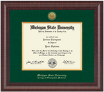 Church Hill Presidential Gold Engraved Diploma Frame in Premier (PhD/ Medical)