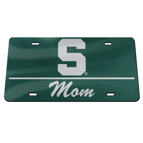 Wincraft MSU Acrylic Classic Mom License Plate