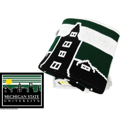 Jardine East Lansing Skyline Knit Blanket