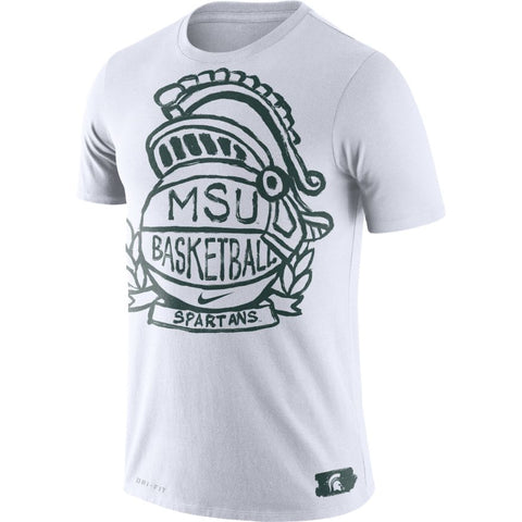 Nike Men's MSU Basketball NK Crest Dri-FIT T-Shirt