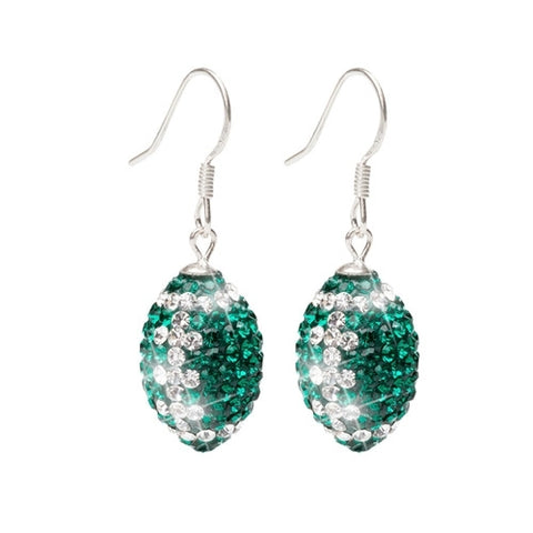 Stone Armory Football Jeweled Earrings
