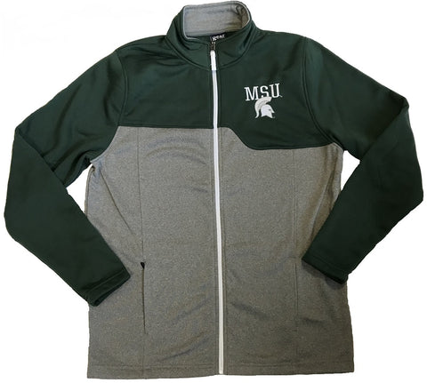 Gear Men's MSU Green Full Zip Fleece