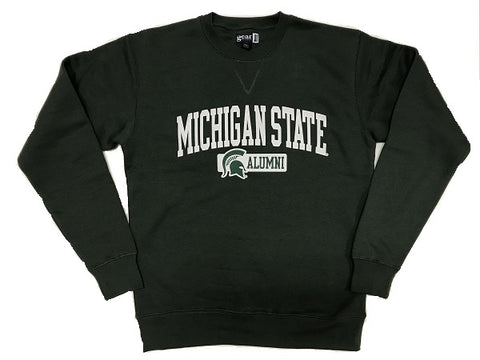 Gear Michigan State Alumni Tumbled Crewneck Sweatshirt