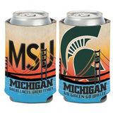 Wincraft Michigan State 12oz License Plate Can Cooler