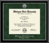 Church Hill Classics Diploma Frame Silver Engraved Medallion in Onyx Silver (College of Law)