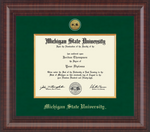Church Hill Bachelor/ Master Presidential Gold Engraved Diploma Frame in Premier