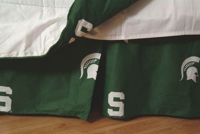 Michigan State Spartans Printed Dust Ruffle