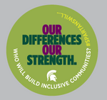 "3"" Removable Decal (Green) - Building Inclusive Communities"