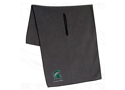 Team Effort Michigan State Spartans Grey Microfiber Golf Towel