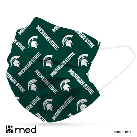 Logo MSU Disposable Face Masks- 6 pack